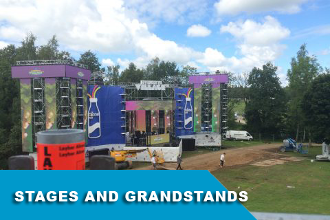 Stages and grandstands